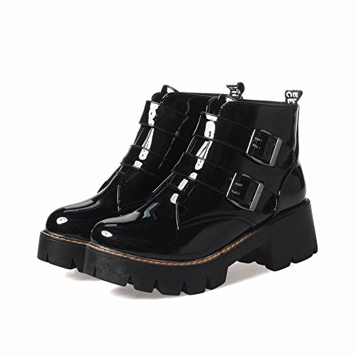 Foot Women's Black Boots Ankle Chunky Charm pFqwRR