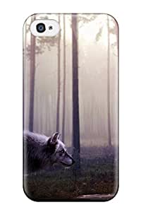 Peter L Whitlow Scratch-free Phone Case For Iphone 4/4s- Retail Packaging - Wild Wolf