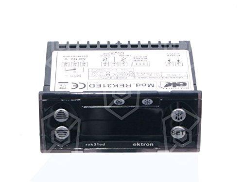 régulateur électronique ektron type rek31ed Appareil de 0021pour réfrigérateur 230V AC de 45à + 95°C 71x 29mm avec affichage Sonde PTC 3chiffres Amatis