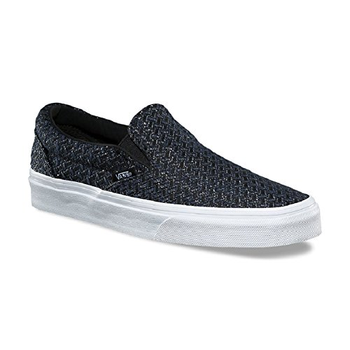 Chevron Skateboarding On White Italian True Weave Slip Shoes Vans Mens Classic wqRxfYyaz