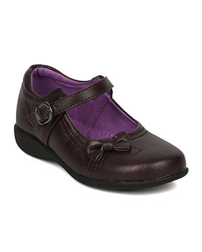 Girls Brown Dress Shoes - 3