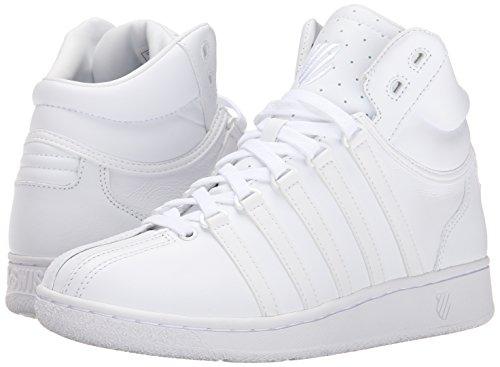 K-Swiss Women's Classic VN Mid Casual Shoe, White/White, 9.5 M US