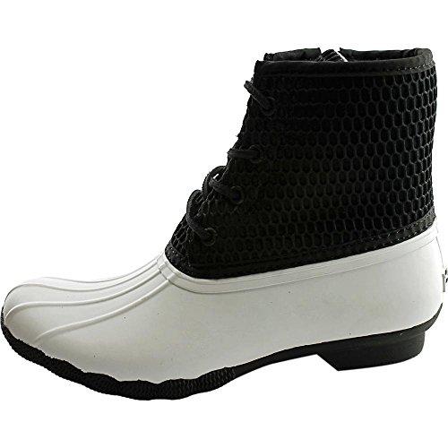 Sperry Top-sider Womens Saltvatten Rep Relief Neopren Regn Boot Vit / Svart