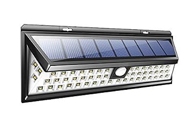 PRIGER Solar Outdoor 54 LED Door Deck pathway Light, Wireless Security Waterproof Wall Lights for Garage, Patio, Garden, Driveway, Yard, RV, Fencepost, , luces Solares