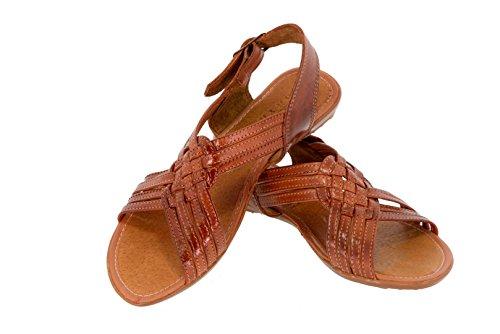 8fb4645df10d Cowboy Professional Women s 238 Cognac Leather Mexican Huaraches Open Toe  Strap