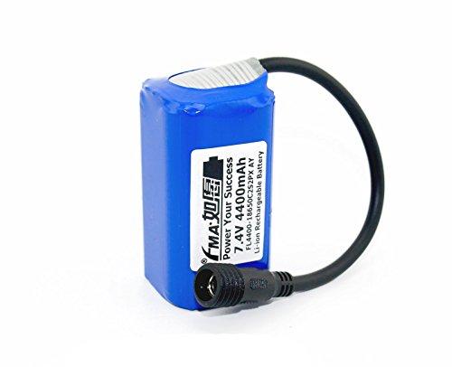 Liion Battery Pack 7.4V 4400Mah For Led Bike Light 2S2P Ay