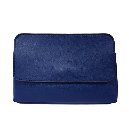 Pochette con correa de hombro desmontable 6145 Azul