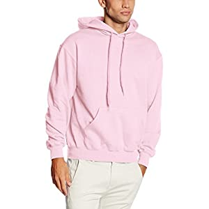 Fruit of the Loom Classic 80/20 hooded sweat Light Pink L