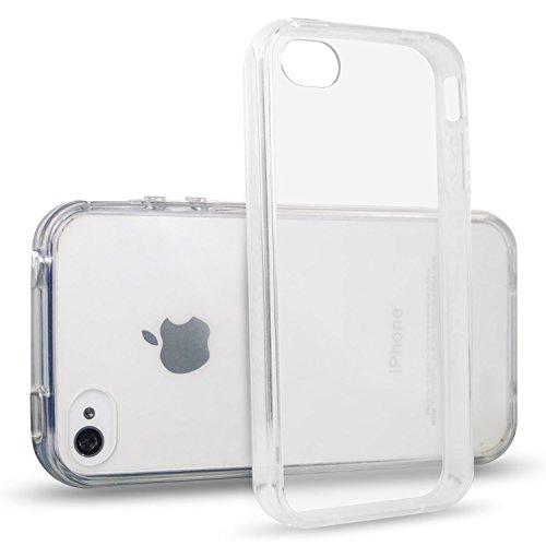 iPhone 4 / 4S Coque, iVoler iPhone 4/4S [Liquid Crystal] Case Coque Housse Etui Ultra Hybrid TPU Silicone,[Extrêmement Mince Souple et Flexible] [Peau Transparente] [Shock-Absorption Bumper et Anti-Sc