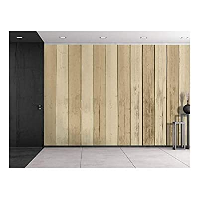 Brown and Cream Alternating Wood Panels Wall Mural...