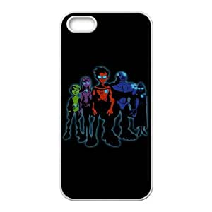Personality customization TPU Case with Teen Titans iPhone 5 5s Cell Phone Case White