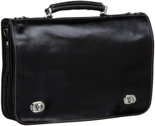 Floto Luggage Roma Messenger Bag, Black, One Size by Floto