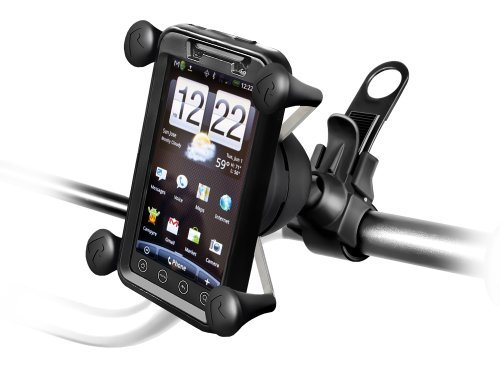 RAM RAP-SB-187-UN7U Universal bike Mount for iPhone 3/4, Samsung Galaxy, HTC Thunderbolt, Incredible, HD7, Motorola Droid, Atrix and other Android Smartphones with bumper or (Ram Bike Mount)