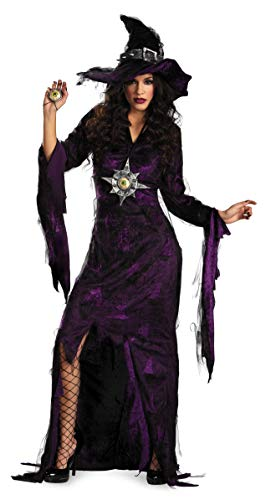 Disguise Adult Sorceress, Purple, Large (12-14) ()