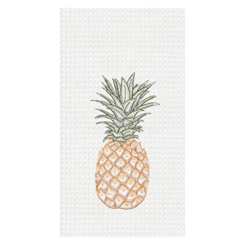 C&F Home Tropical Pineapple Embroidered Waffle Weave Kitchen Towel Kitchen -