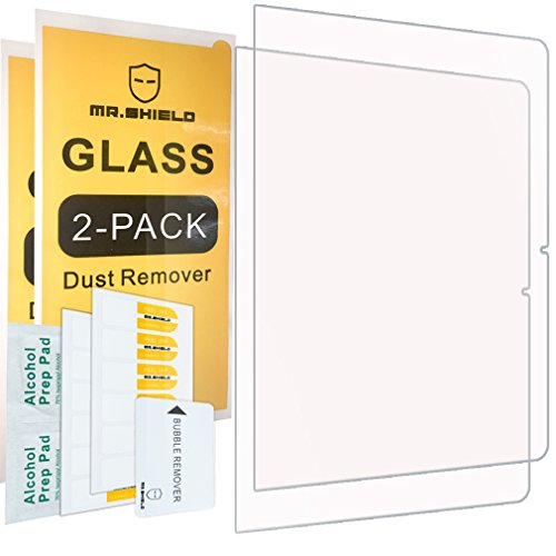 Mr Shield [2-Pack] for Samsung Chromebook Plus [Tempered Glass] Screen Protector [0.3mm Ultra Thin 9H Hardness 2.5D Round Edge] with Lifetime Replacement Warranty
