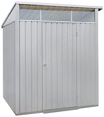Duramax 41872 Palladium Galvanized Steel Storage Shed, 6-1/2'W x 6-7/16'D x 7-1/2'H, Lot of 1