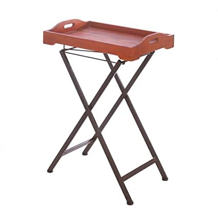 Tremendous Amazon Com Old Fashioned Tray Table With Stand Sports Home Remodeling Inspirations Genioncuboardxyz