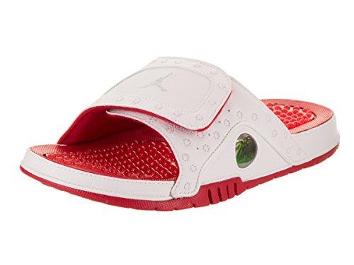 Nike Air Jordan Hydro 13 Xiii Sandal Slide Hvid / Rød Grå JKbCM876jY