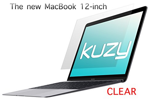 """Kuzy - Retina 12-Inch Clear Screen Protector Film for MacBook 12"""" with Retina Display A1534 (Newest Version) - Crystal Clear"""