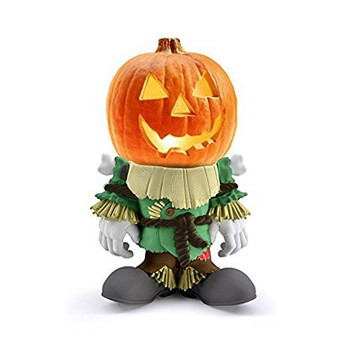 Indoor/Outdoor Halloween Decorations Scarecrow Pumpkin Statue For Backyard, Lawn or Garden - Iconic, Hand Painted, Weatherproof, Creepy, Scary - Made Of Resin by 3B Global