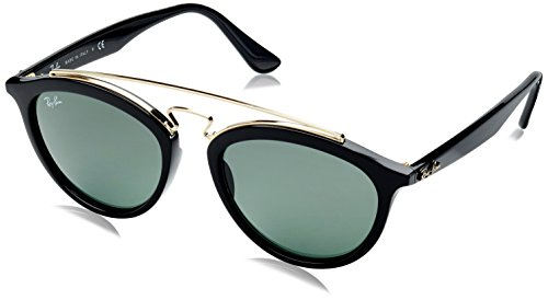Ray-Ban Women's New Gatsby Ii Round Sunglasses, Black, 53 - New Ban Collection Ray