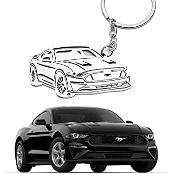 Star-Trade-Inc Universal Car Number 5.0 Key Fob Ring Keychain for Ford//Mustang GT 500//Cobra