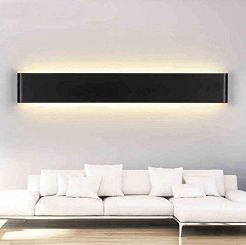 Lingstar Mesita de noche creativa moderna, minimalista aluminio lámpara LED de pared pasillo espejo de baño Luz, 14W,51cm,...