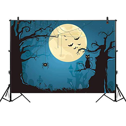 Allenjoy 7x5ft Scary Halloween Night Backdrop for Baby Childern Portrait Photography Celebration Party Decor Decoration Pictures Background Supplies Photo Studio Booth Prop]()