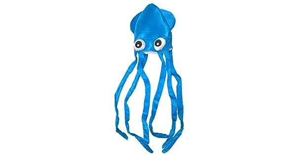 Amazon.com: Novedad Azul Squid con tentáculos largo Party ...