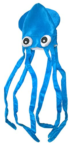 Novelty Blue Squid with Long Tentacles Party Hat
