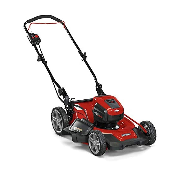 Snapper HD 48V MAX Cordless Electric 20-Inch Lawn Mower Kit with (1) 5.0 Battery and (1) Rapid Charger 4 Up to 90 minutes of run time with 5. 0 Battery under light loads** 3-in-1 mulch/bag/side-discharge options on 20-inch steel deck Intelligent load sensing technology - allows for optimum power levels while you mow for maximum efficiency