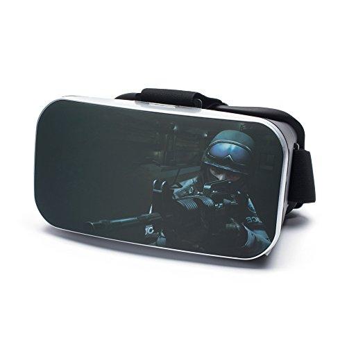 VR Virtual Reality Brille by aricona - Gaming Headset für Filme & Spiele in 3D Format für 4.0 - 6.0 Zoll Smartphones, in War Hero Design