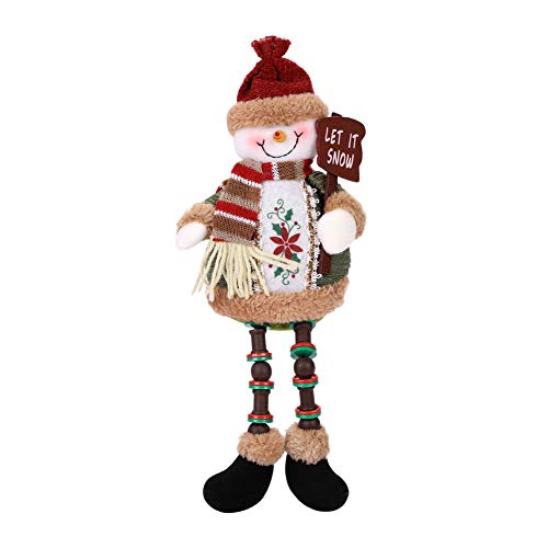 Christmas Decorations Sitting Dolls Christmas Santa Claus Snowman Figure Doll Christmas Party Tree Hanging Decor Home Indoor Table Fireplace Shelf Sitter Figurine Ornament Gifts for Kids Children ()