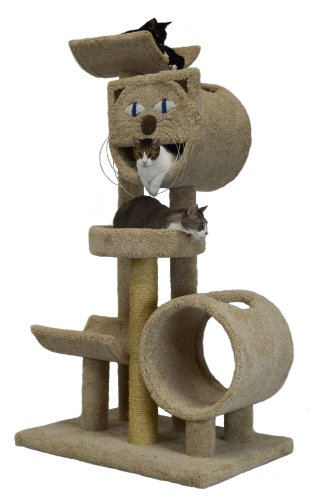 - Molly and Friends Pussycat Playground Premium Handmade 5-Tier Cat Tree with Sisal, Model 38243, Beige
