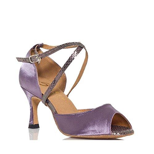 Damen Latin Schuhe funkelnde Glitter Sandale Ballsaal Schuhe/Heel Performance/Sekt Glitter Flared Heel Party & Abend Grasgrün, Classic Grey B