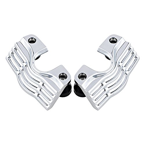 Chrome FINNED Slotted Spark Plug Head Bolt Covers Kit For Harley Road King Street Electra Glide Trike