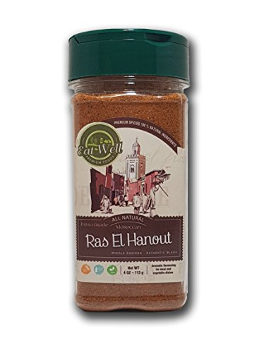 Ras El Hanout | 4 oz - 113 g | Meat Seasoning | Mixed Spice | Morrocan Blend Spice | Eat Well Premium Foods ()
