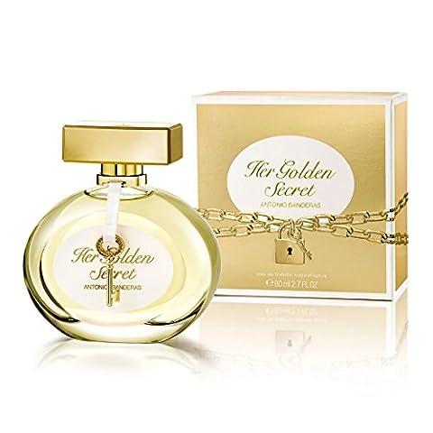 Antonio Banderas Her Golden Secret EDT Spray for Women, 2.7 Ounce - Antonio Banderas Fragrances