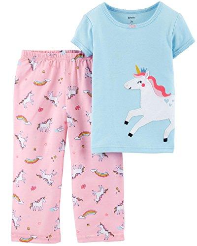 Carter's Baby Girls 2-Piece Pajamas Set (12 Months, Unicorn)