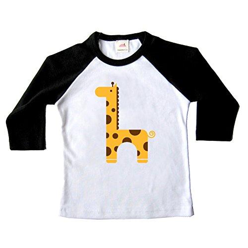 Ladybug Organic Baby T-shirt - Unisex Giraffe Raglan Tee (2T) - Made in USA …