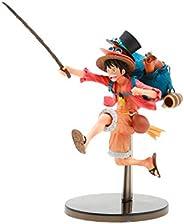 Figure One Piece Three Brothers Figure a Monkey D Luffy BANDAI BANPRESTO Ref. 20742/20743