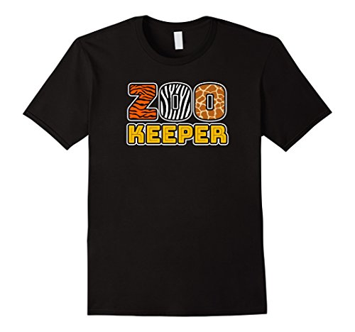 Mens Zookeeper | African Savannah Animal Pattern Print T-shirt 2XL Black - Zookeeper Costumes