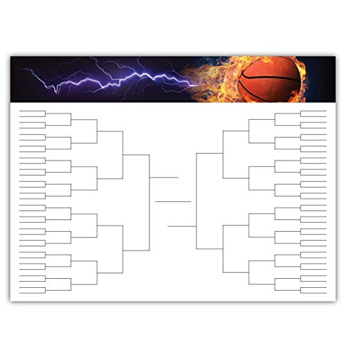 March Madness Basketball Championship Bracket Poster - 24