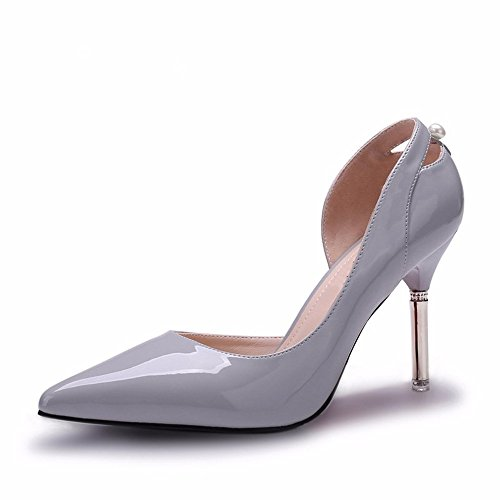 Single Shoes Grey The And Women Shallow Spring Shoes Casual Shoes Mouth Autumn New High HXVU56546 Heeled 8Zfq77
