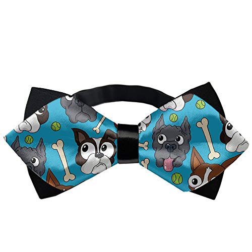 Men's Pre Tied Bow Tie, Adjustable Tuxedo Bow Tie, Paisley Neckties, Wedding, Party, Formal Events, Fancy Plain Casual and Formal Ties,Boston Terriers Dog Bone for $<!--$7.99-->