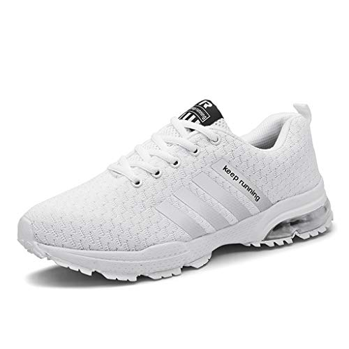 Couple Sneakers Mesh Basketball Running Sport Athletic Shoes Sneakers(Send Socks) White