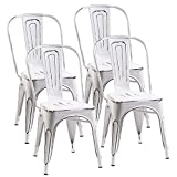 Merax PP187758KAA Metal Dining Chair, Antique White Review
