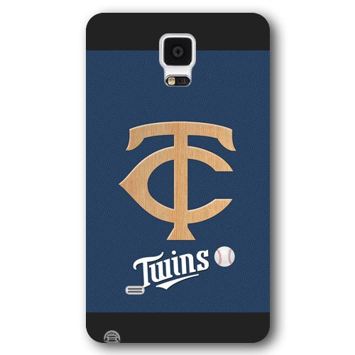 Galaxy Note 4 Case, Onelee(TM) MLB Minnesota Twins Samsung Galaxy Note 4 Case [Black Frosted Hardshell]