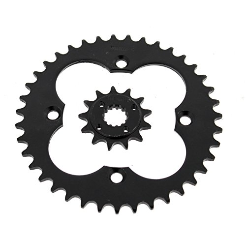 2005-2008 Fits Honda TRX400EX 400EX 13 Tooth Front & 39 Tooth Rear Black Sprocket ()